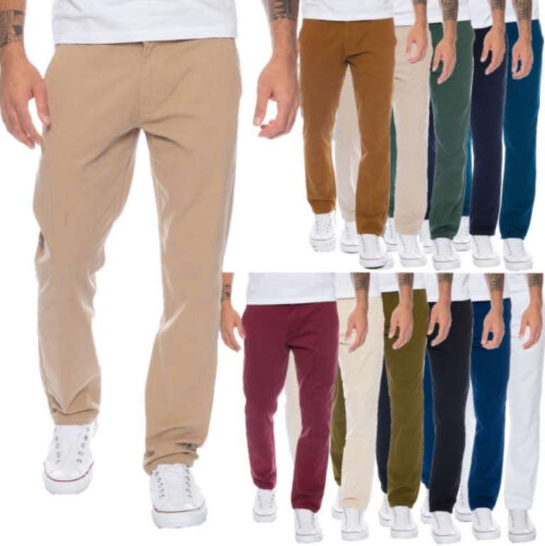 Rock Creek Chino Hosen (RC-390, Regular Fit) für Herren je 19,90€ inkl. Versand