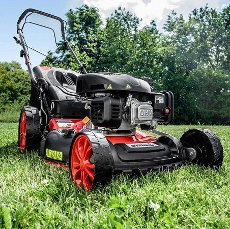 Powertec Garden Benzin-Rasenmäher Eco Wheeler 460/5in1 R für 164,15€