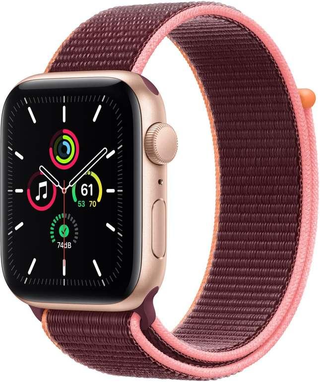 Apple Watch SE mit Sportarmband (GPS + Cellular, 44mm) in Pflaume für 324€ inkl. Versand (statt 368€)