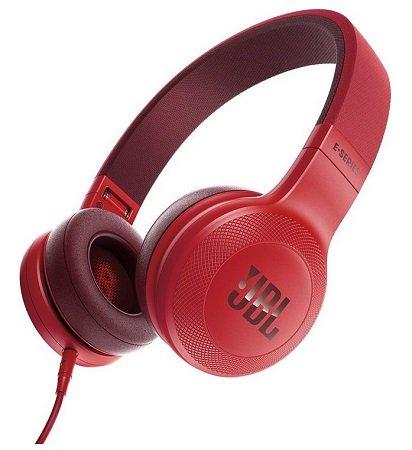 JBL E35 On-Ear Kopfhörer mit Mikrofon in Rot für 41,89€ (statt 55€)