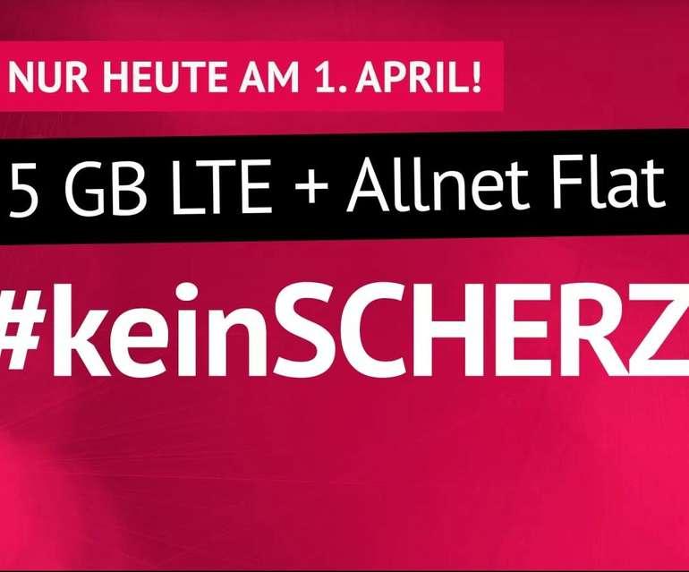 Handyvertrag.de: o2 AllNet-Flat mit 5GB LTE für 5,99€ mtl. (monatlich kündbar!)