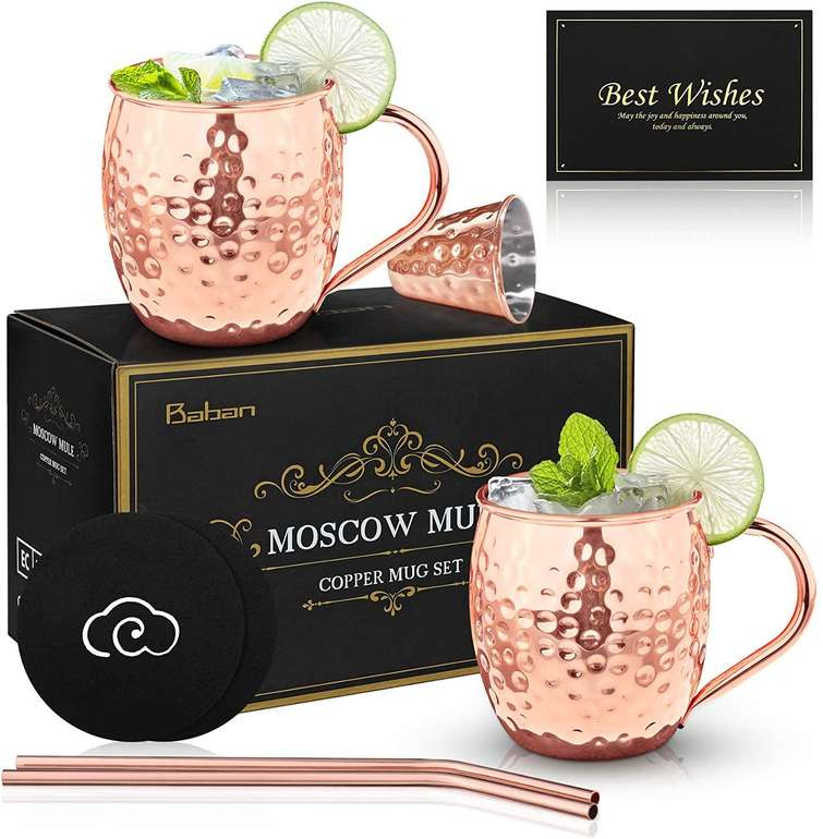 Baban Moscow Mule Set für 11,99€ inkl. Prime Versand (statt 16€)