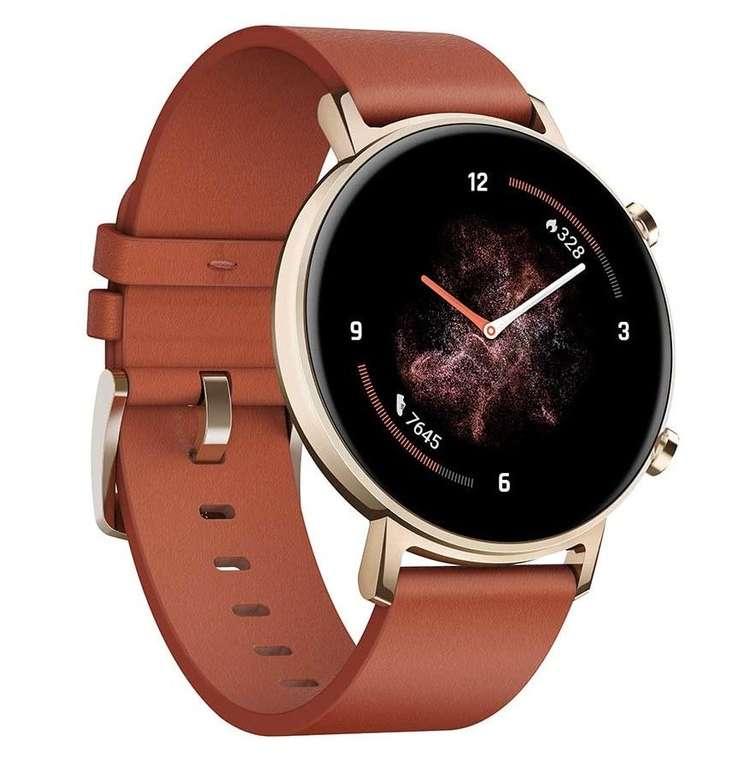 Huawei Watch GT2 (42mm) in Chstenut Rot für 109€ inkl. Versand (statt 139€)
