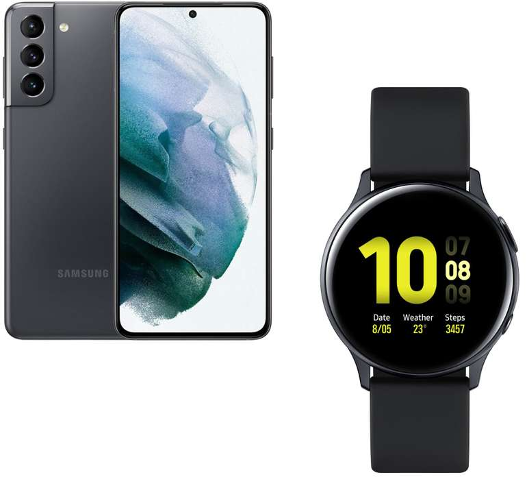 Samsung Galaxy S21 mit 5G & 128GB + Samsung Galaxy Watch Active2 (40mm) + Telekom Magenta Mobil S ab 29,95€ mtl.