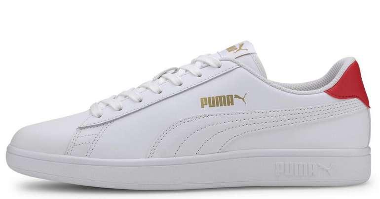 Puma Unisex Smash V2 in Weiß/Rot für 35,94€ inkl. Versand (statt 50€) - Abholung: 29,99€