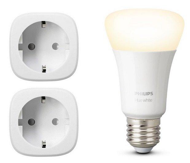 Doppelpack Eve Energy smarte Steckdosen + Philips Hue White E27 für 74,95€ inkl. Versand