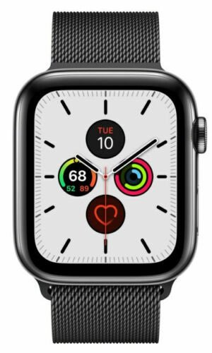 Apple Watch Series 5 GPS + LTE Edelstahl Space Milanaise 44mm