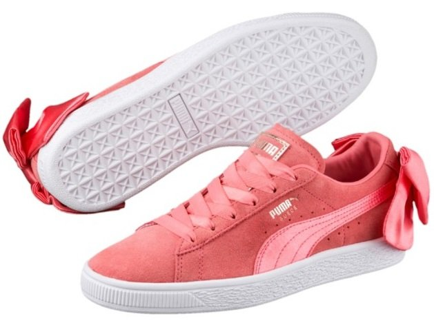 Puma Suede Bow Damen Sneaker in Peach für 21,95€ inkl. Versand