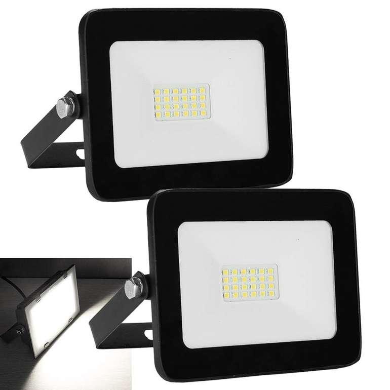 Hengda Doppelpack LED Fluter reduziert, z.B. 2er Pack LED Fluter mit 20W für 12,99€ (statt 26€)