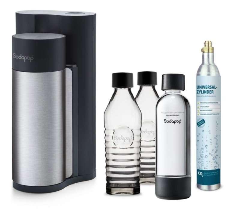mySodapop Harold Black Matt + 2 Glaskaraffen, 1 PET Flasche & CO2-Zylinder 60L für 79€ (statt 95€)