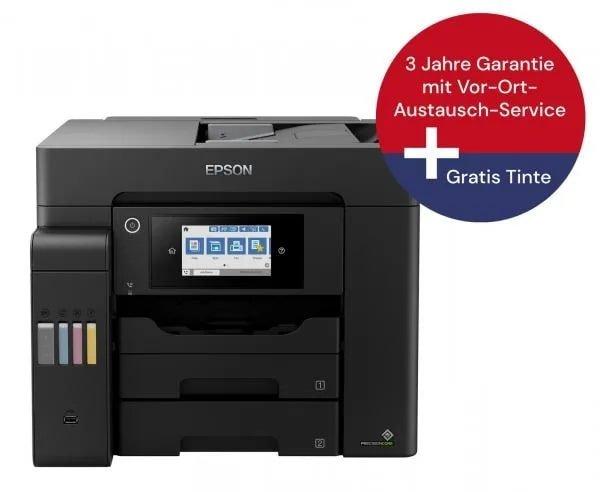 Epson EcoTank ET-5800 Tintenstrahl-Multifunktionsgerät + 4er Set Tinte + Vor-Ort-Garantie für 669€ inkl. Versand (statt 1.080€)