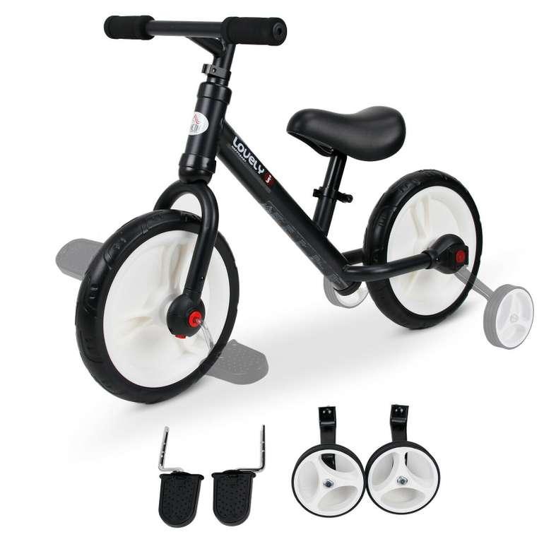 HomCom 2-in-1 Laufrad mit Stützräder und Pedale (2 Farben) für 21,21€ inkl. Versand (statt 35€)