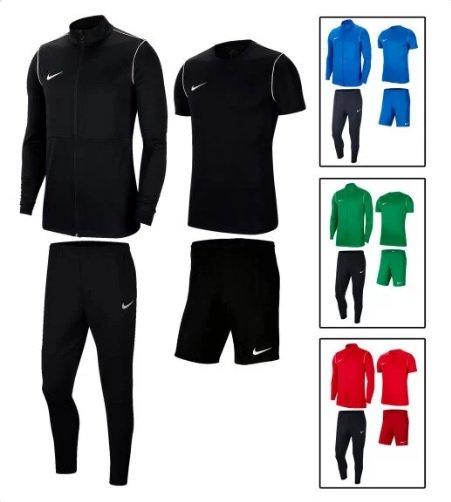 Nike Trainingsset Park 20 (4-teilig: Jacke, Hose, Shirt und Short) verschiedene Farben und Größen für je 49,90€ (statt 65€)