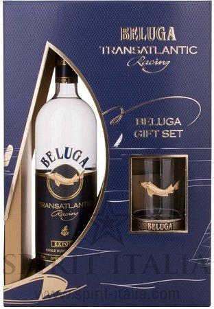0,7 Liter Beluga Vodka Transatlantic Racing Noble Russian 40% + Glas für 26,99€