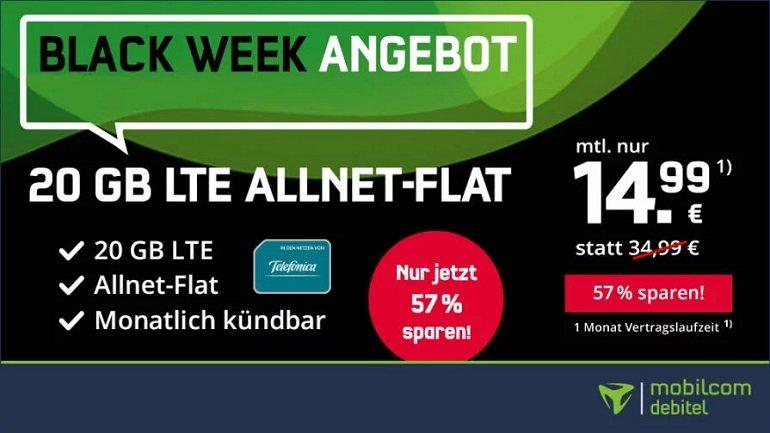 o2 Allnet-Flat mit 20GB LTE