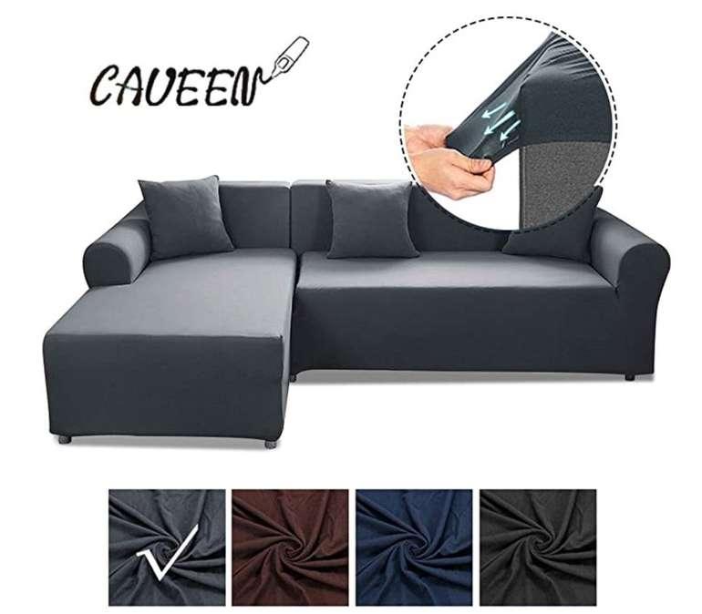 Elastische Caveen Sofa Überwürfe (2x Sofabezug + 2x Kissenbezug) für 38,49€ inkl. Versand (statt 55€)