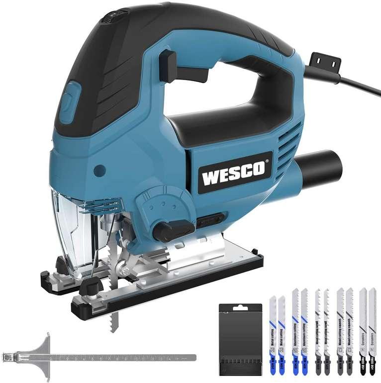 Wesco WS3772 850W Stichsäge (3000 SPM, 6 Geschwindigkeiten) für 39,99€ inkl. Versand (statt 65€)