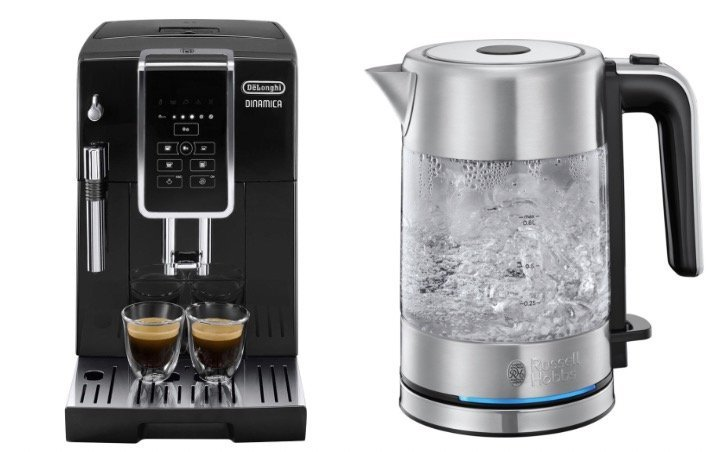 Delonghi Kaffeevollautomat Ecam 350.15.B + Russell Hobbs Wasserkocher (0,8l) für 353,99€ inkl. Versand (statt 391€)