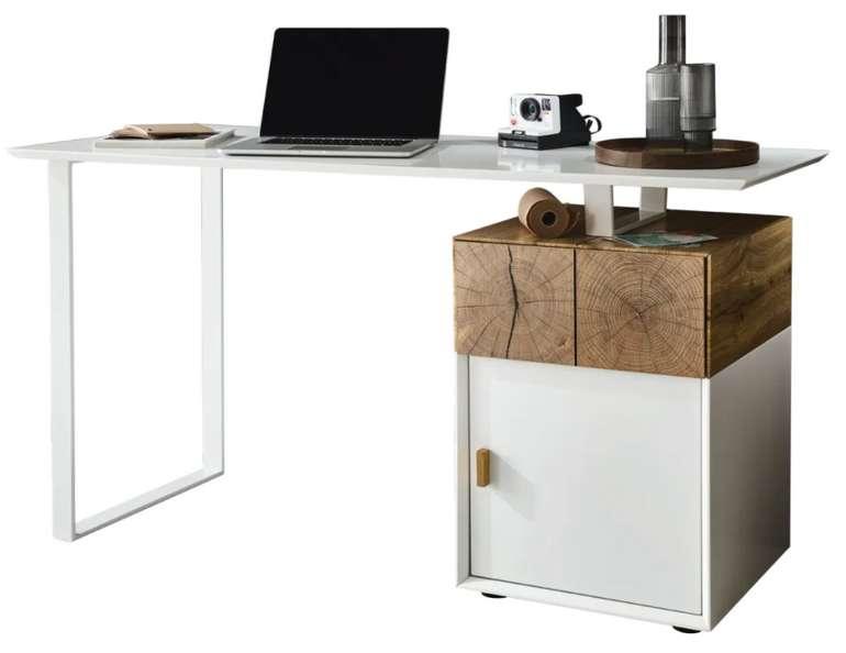 """Casavanti Bürotisch """"Toni"""" Holznachbildung in eichebraun/weiß für 198,99€ inkl. Versand (statt 238€)"""