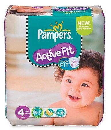 168er Pack Pampers Active Fit Windeln in Gr. 4 ab 30,24€ (140 Stk. Gr.4+)
