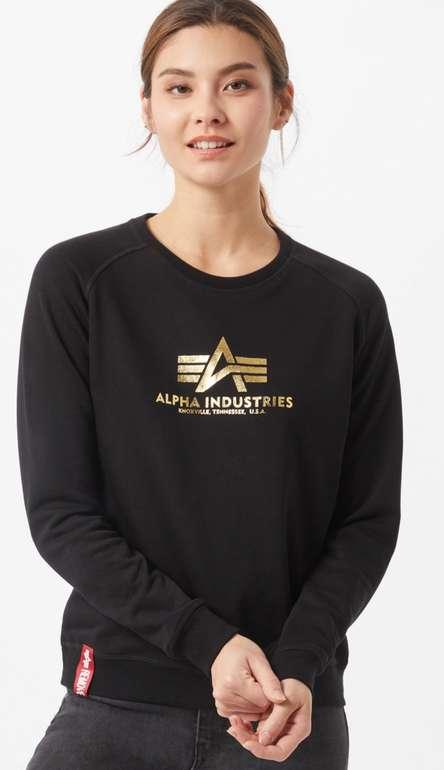 Alpha Industries Sweatshirt New Basic in gold / schwarz für 26,90€inkl. Versand (statt 45€)