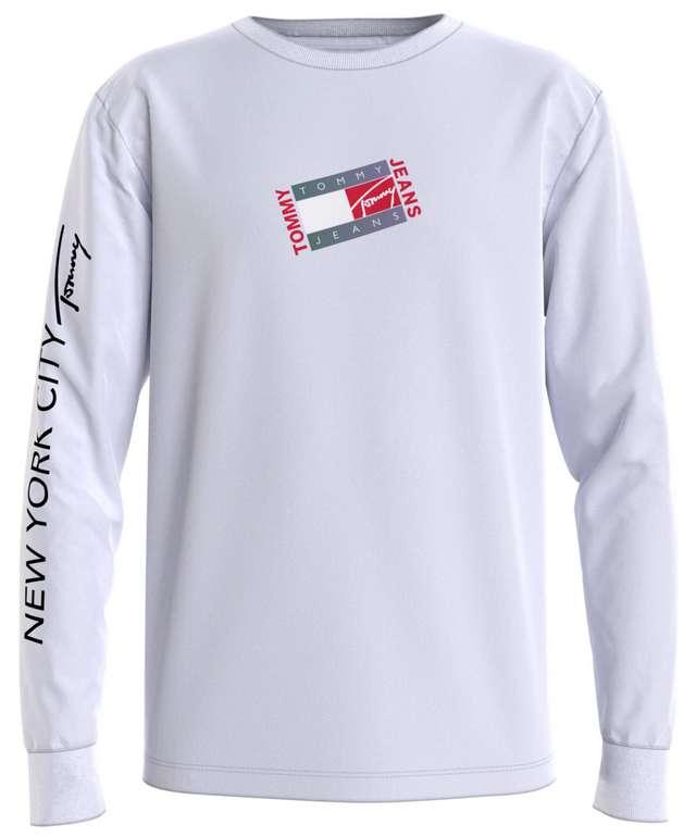 Tommy Jeans Herren Langarmshirt in Weiß für 26,91€ inkl. Versand (statt 36€)