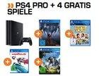 Playstation 4 Pro mit 1TB und 4 Spielen für 399€ inkl. Versand (statt 472€)