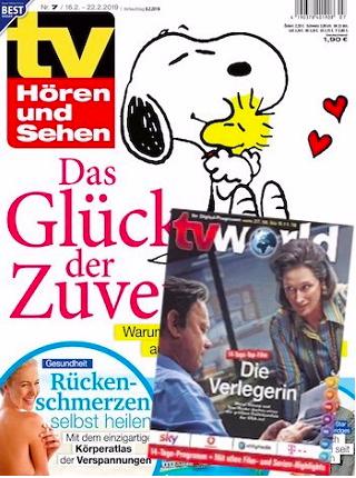 """Jahresabo """"TV Hören und Sehen"""" + tv world für 119,80€ + 120€ Gutschein"""