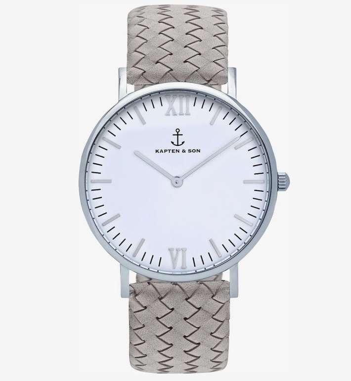 """Kapten & Son Armbanduhr """"Campina"""" in grau / silber für 114,81€ inkl. Versand (statt 149€)"""
