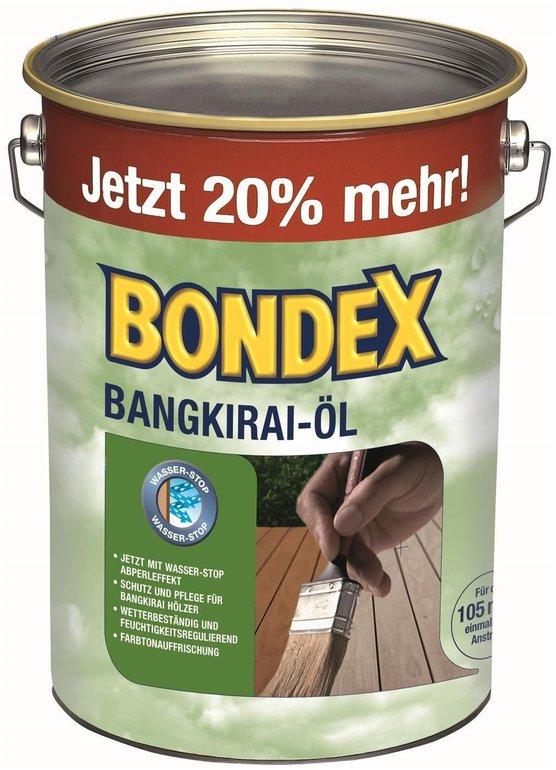 Bondex Holzschutz-Bangkirai-Öl (4,8 Liter) für 34,99€ inkl. Versand