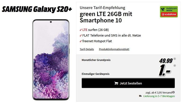 Samsung Galaxy S20+ Vodafone Allnet Flat 26GB LTE