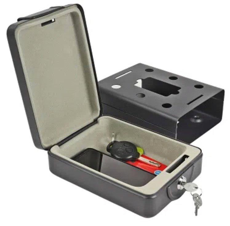 Mobilsafe bzw. Stahlsafe (1,7 kg) inkl. Halterung und mit 2 Schlüsseln für 17,99€ (statt 20€)