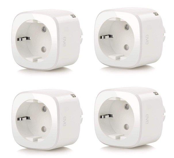 Tink: 15% Rabatt ab 150€ auf alle Eve Produkte, z.B. 4er Pack smarte Steckdosen für 144,46€