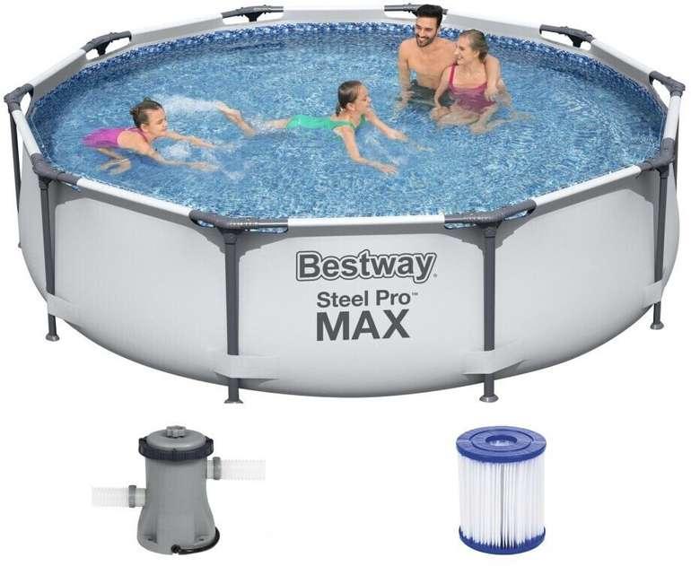 """Bestway Steel Pro Max Frame """"56408"""" (305x76cm) + Pumpe für 91,15€ inkl. Versand (statt 147€)"""