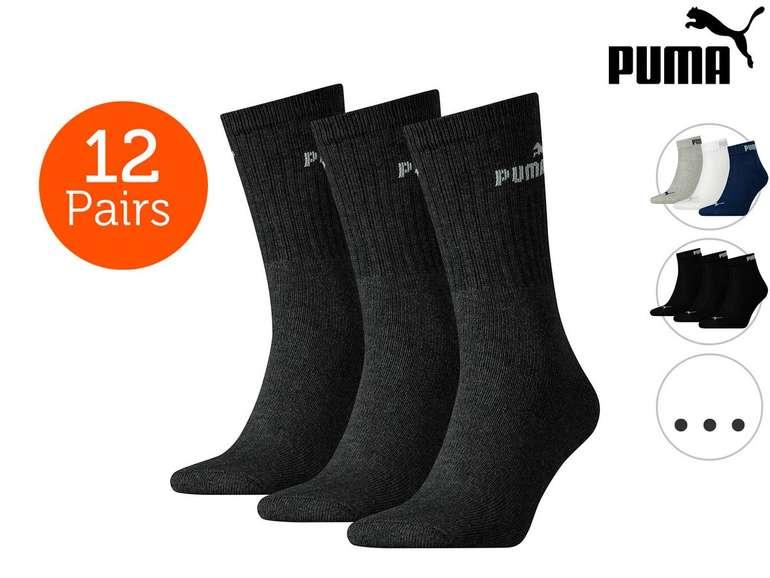 12 Paar Puma Socken Crew oder Quarter für 20,90€ (statt 32€)