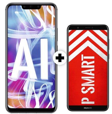 o2 Allnet Flat mit 5GB + Huawei Mate 20 Lite + Huawei P smart für 28,99€ mtl.
