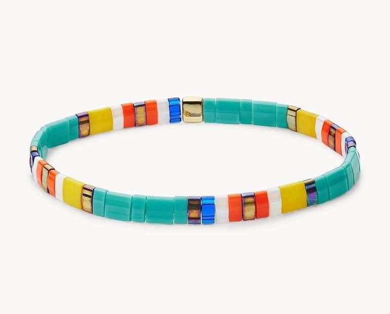 Fossil Damen Armband Festival Multi Teal in 6 Farben für je 14€ inkl. Versand (statt 27€)