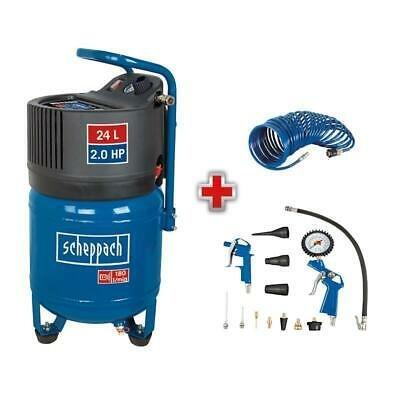 Scheppach Druckluft Kompressor 24L, 10bar + Druckluft Set für 89,95€ (statt 117€)