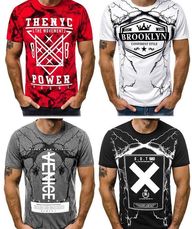 OZONEE 9047 MIX Rundhals T-Shirts für 6,95€ inkl. VSK