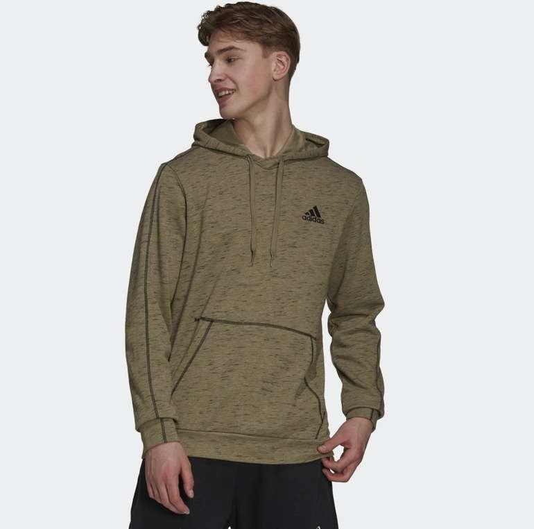 Adidas Essentials Mélange Embroidered Small Logo Hoodie für 38,50€ (statt 43€)
