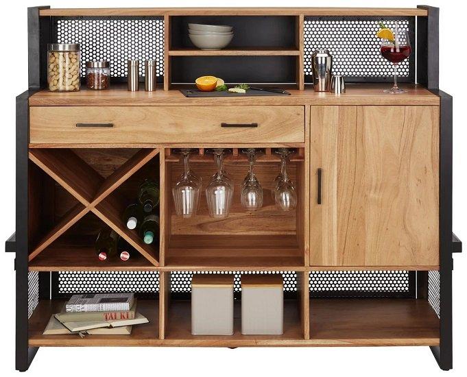 Premium Living Bar aus Akazienholz 2