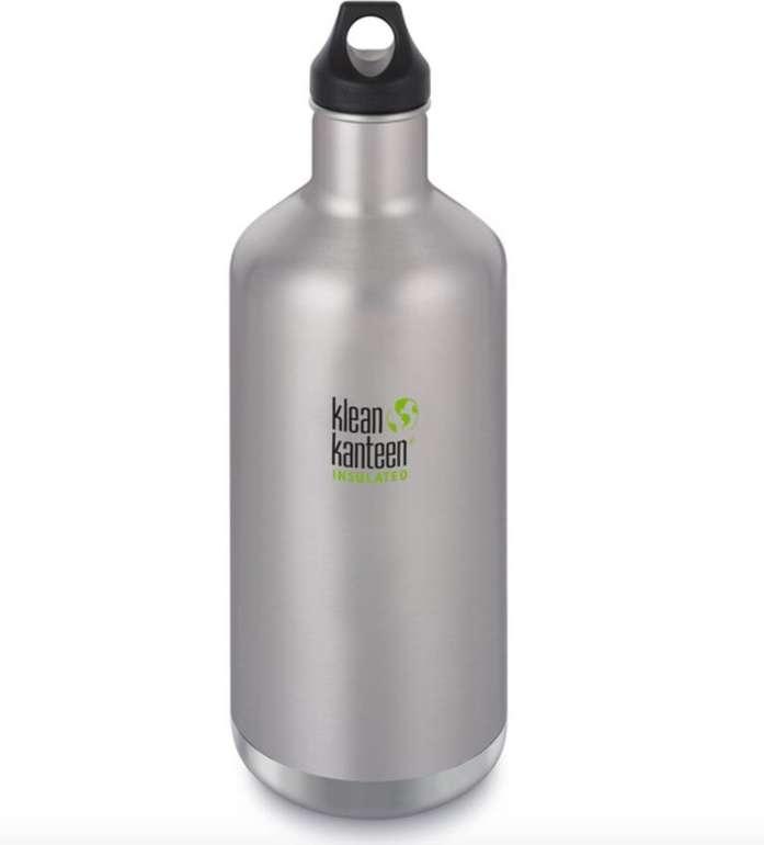 Klean Kanteen Classic Vacuum Insulated Flasche (Loop Cap, 1900ml, brushed stainless) für 32,94€ (statt 46€)