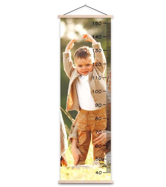 Lieblingsfoto: 72% Rabatt auf ein Wachstumsmesser mit eigenem Foto - z.B. 37 x 120cm für 14,83€ zzgl. Versand