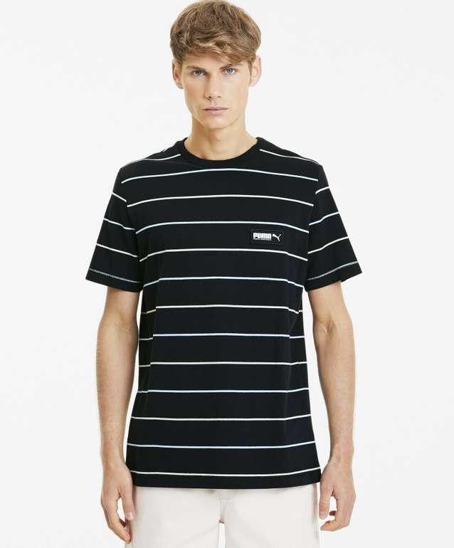 Puma Fusion gestreiftes Herren T-Shirt für 12€ inkl. Versand (statt 26€)