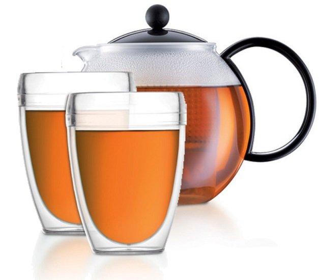 Bodum Assam Tee-Set mit 1 Liter Kanne + 2 Gläser für 21,90€ (statt 31€)