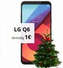 LG Q6 (1€) + Weihnachtsbaum & O2 Smart Surf (1GB, 50 Min. & SMS) für 9,99€ mtl.
