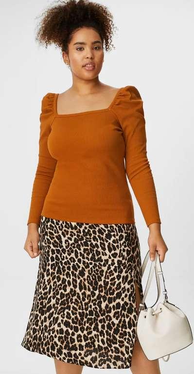 C&A Clockhouse Langarmshirt in Orange für 6,74€inkl. Versand (statt 18€) - Große Größen!