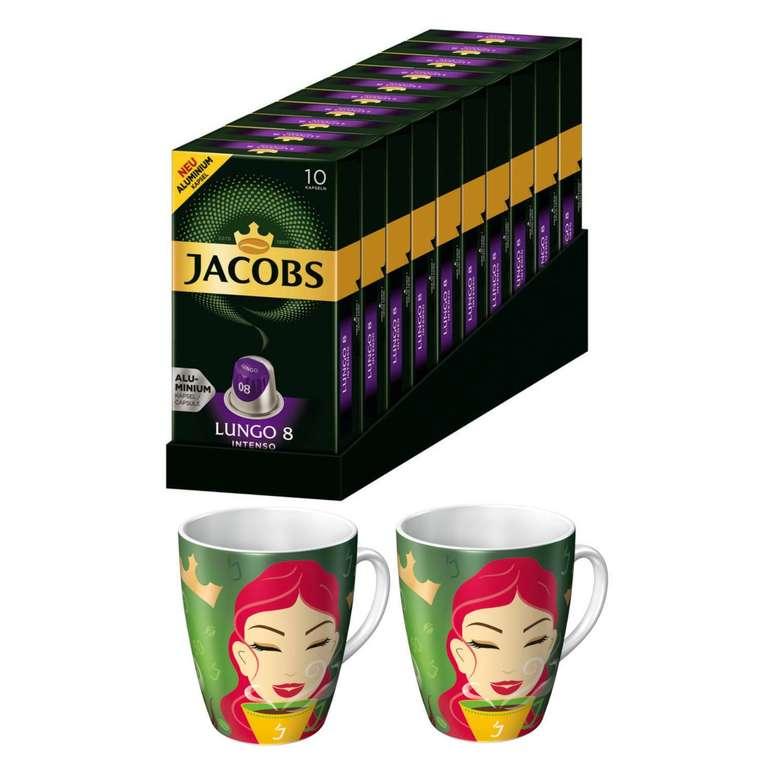 100 Jacobs Lungo 8 Intenso Kaffeekapseln (Nespresso) + 2 Motivtassen (Ritzenhoff) für 19,90€ inkl. Versand
