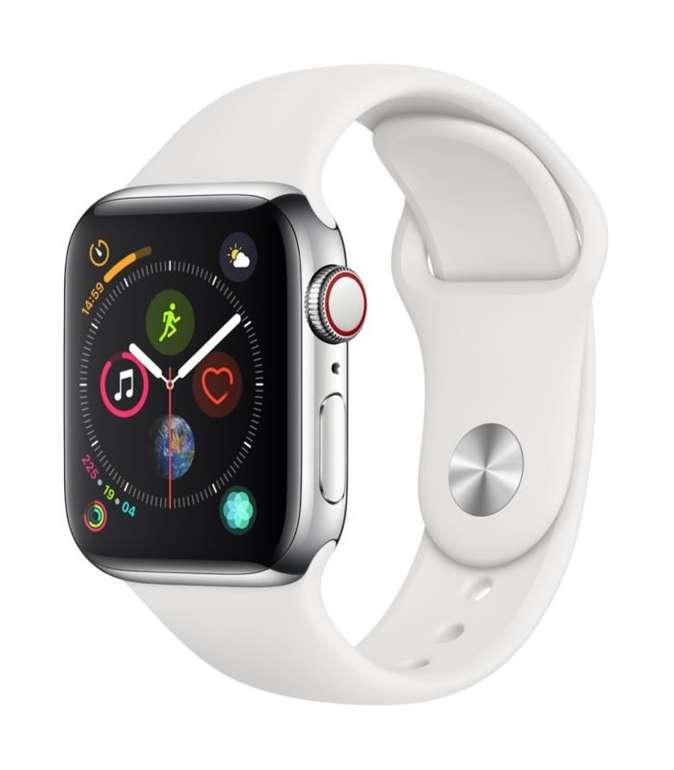 Apple Watch Series 4 LTE 40mm Edelstahlgehäuse mit Sportarmband für 399€ (statt 639€)