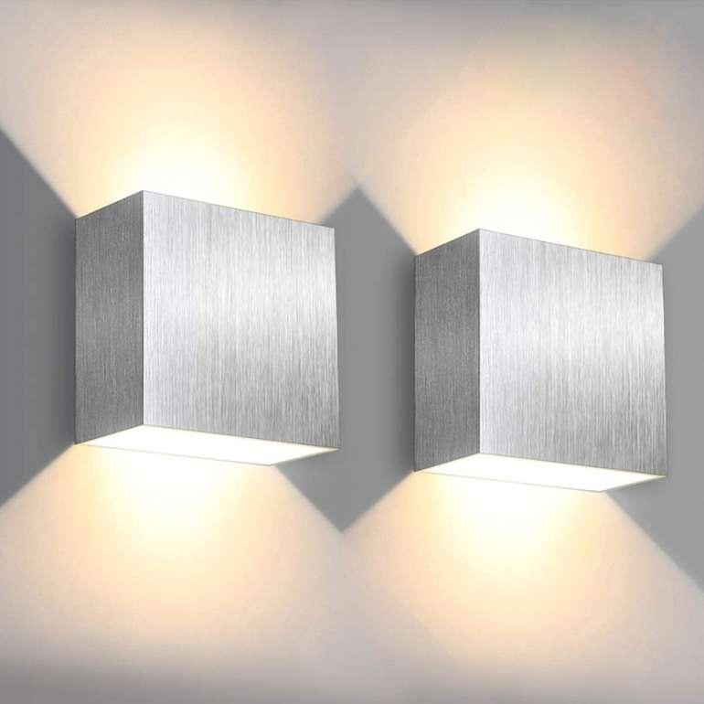 Solmore 2er Pack 6W LED Wandleuchten mit Up/Down Effekt für 16,73€ inkl. Prime Versand (statt 27€)